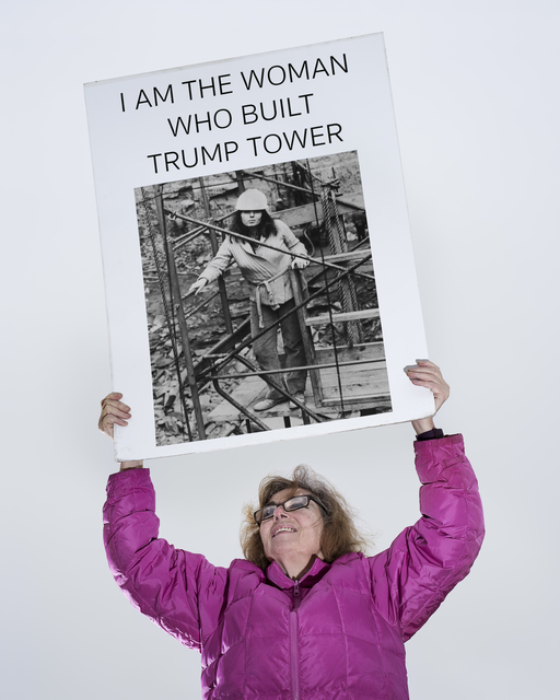 , 'The Woman Who Build Trump Tower,' 2017, Casemore Kirkeby