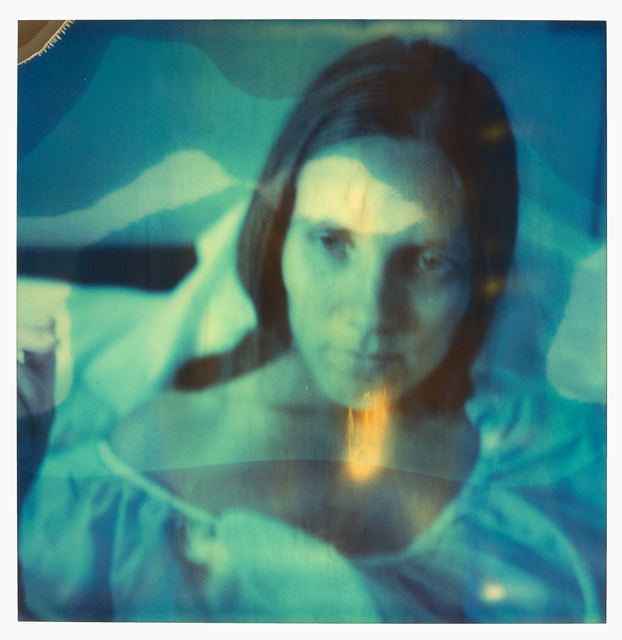 Stefanie Schneider, 'Madonna without a Cause (Burned) - Self Portrait', 1999, Photography, Print on Velvet Watercolor, 310gsm, No OBAs, Bright White, Acid Free based on an original Polaroid, not mounted., Instantdreams
