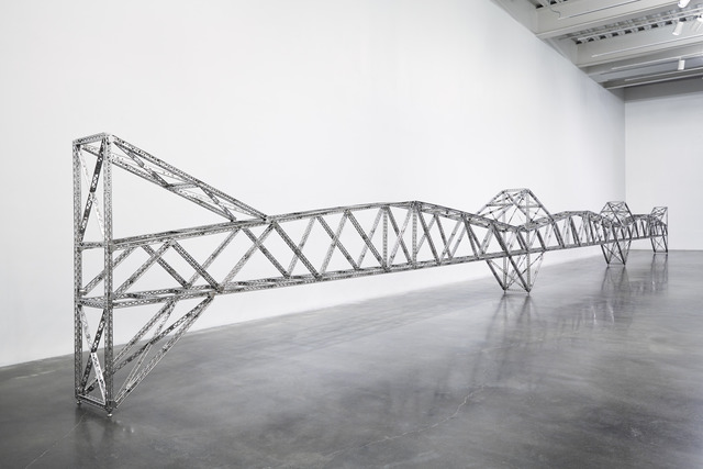 ", 'Triple 21 Foot Truss Bridge. Installation view, ""Chris Burden: Extreme Measures"" at New Museum, New York, 2013,' 2013, New Museum"