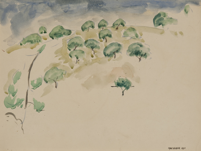 , 'Trees on a Hill,' 1911, Gerald Peters Gallery