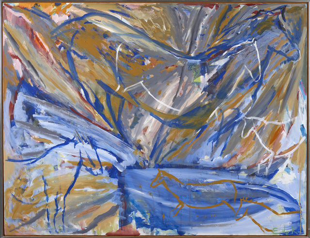 , 'Six Horses: Blue Wall,' 1984, Berry Campbell Gallery
