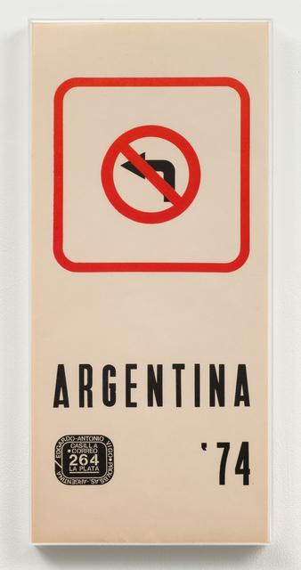 , 'Argentina '74,' 1974, Richard Saltoun