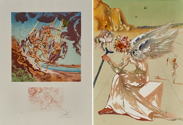 Salvador Dalí, 'Return of Ulysses/Helen of Troy, from Hommage à Homère', 1977, Print, Two lithographs in colors (in hardcover portfolio), Rago/Wright