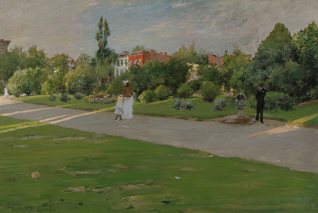 , 'Park in Brooklyn,' ca. 1887, Parrish Art Museum
