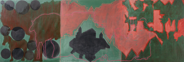 ", 'Red Landscapes (from the ""Landscapes"" series, 1973-1983),' 1982, Contemporary by Golconda"