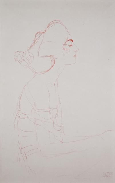 """Gustav Klimt, 'Study for """"Danae"""" (Portrait Study) [Fünfundzwanzig Handzeichnungen]', 1919, Jason Jacques Gallery"""