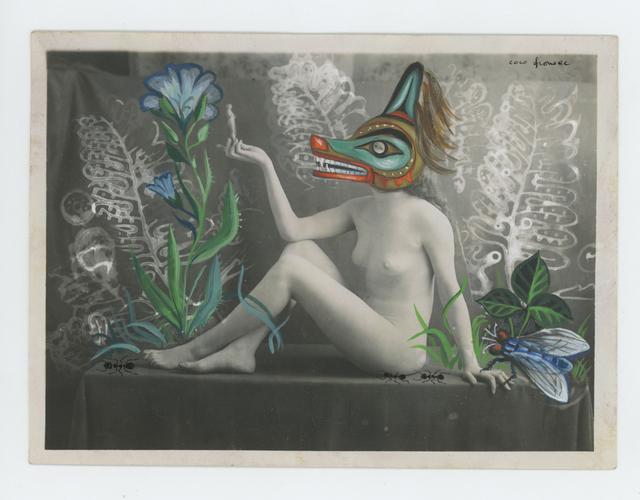 Coco Fronsac, 'Rencontre d'une Belle et de fourmis sur une table d'atelier', 2015, Photography, Mixed media on early 20th century vernacular photograph, Obscura Gallery