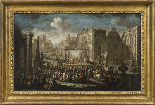 , 'A Performance from the Commedia dell'Arte set in a Piazza,' , Robert Simon Fine Art