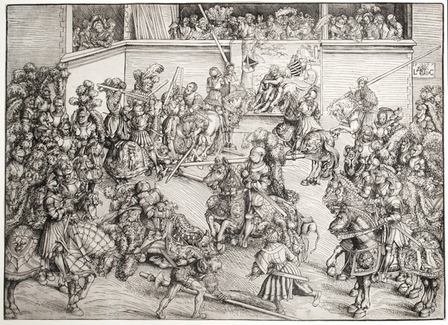 , 'The Second Tournament with the Tapestry of Samson and the Lion,' 1508, R. S. Johnson Fine Art
