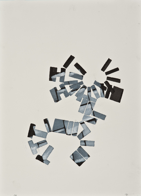 Chuck Holtzman, '896', 2013, Drawing, Collage or other Work on Paper, Ink and opaque watercolor on paper, Clark Gallery