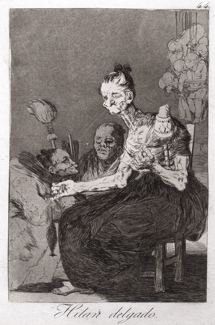 Francisco de Goya, 'Hilan Delgado (They Spin Finely)', 1799, R. S. Johnson Fine Art