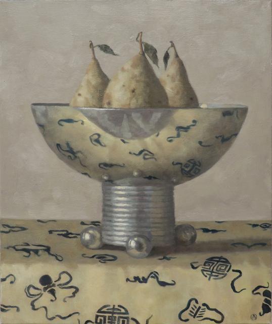 Olga Antonova, 'Three Pears in a Vase', 2020, Painting, Oil on canvas, Gallery Henoch
