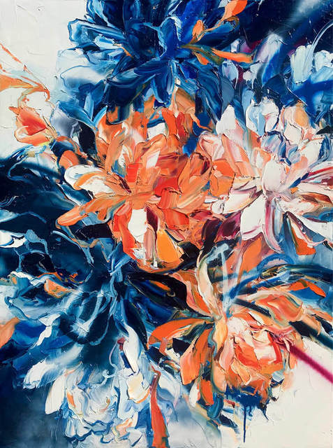 Diana Peel, 'Ice and Flame', 2021, Painting, Oil and Spray Paint on Canvas, Black Door Gallery