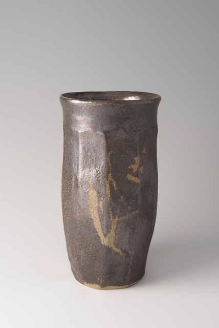 , 'Faceted vase, salt glaze with wax resist brushwork,' 1960, Pucker Gallery