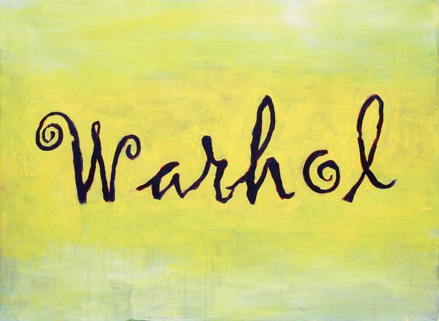 , 'Warhol (aus der Serie: Signatur mit Bild),' 2015, Beck & Eggeling