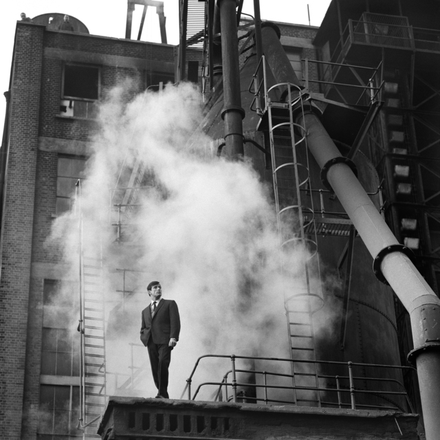", '""Thermodynamic"", Fashion Shoot for Man About Town Magazine, Grove Road Power Station, 31st October 1960,' 1960, ElliottHalls"