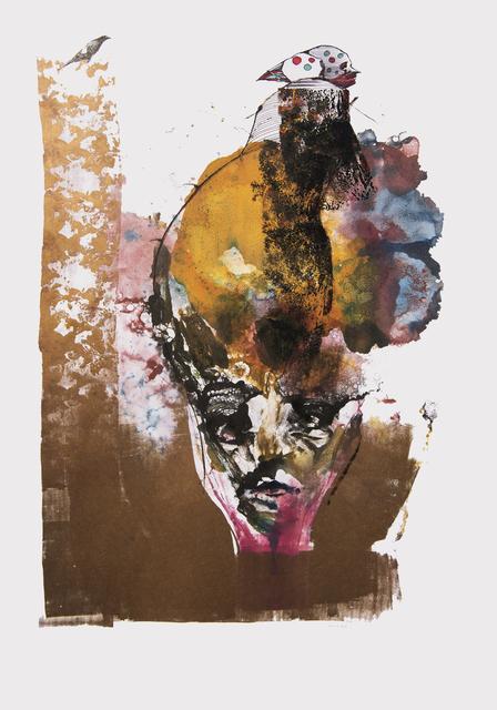 Frank David Valdés, 'The romance', 2018, Painting, Mixed media on paper, ArteMorfosis - Cuban Art Platform