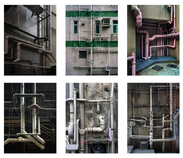 , '#14, Hong Kong pipes, MFT group,' 2014, GALLERY FIFTY ONE