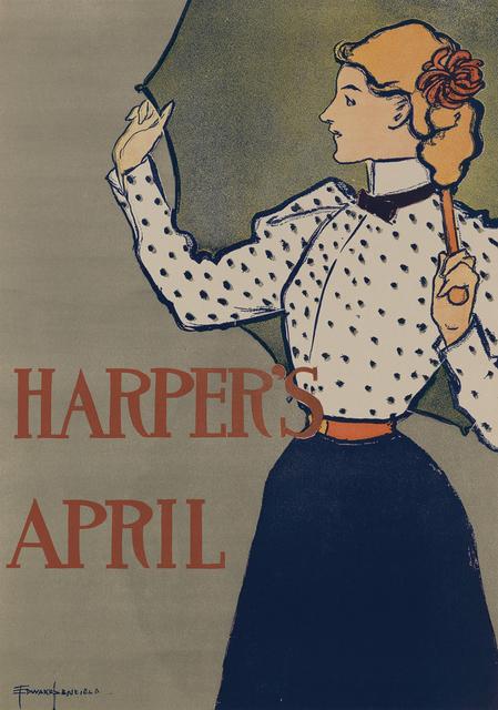 , 'Harper's April 1897 - Woman with Umbrella,' 1897, Omnibus Gallery
