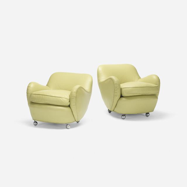 Vladimir Kagan, 'Barrel lounge chairs model 100A, pair', 1950, Rago/Wright