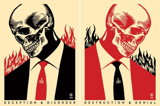 Shepard Fairey (OBEY), 'destruction & denial set', 2015, Rudolf Budja Gallery