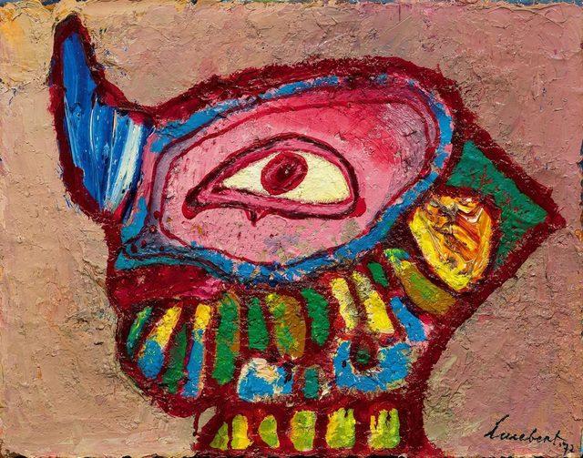 Lucebert, 'Head of Faune', 1972, Painting, Oil on canvas, Koller Auctions