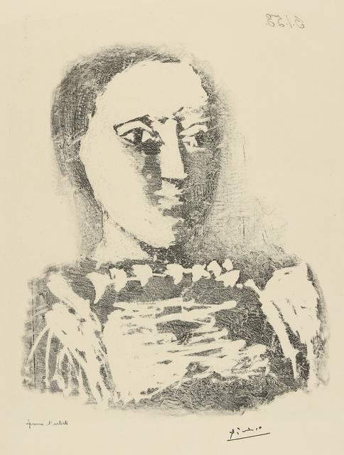 Pablo Picasso, 'Le Chandail brodé (B. 729; M. 231)', 1953, Sotheby's