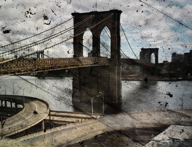 , 'Tent-Camera Image on Ground: Rooftop View of the Brooklyn Bridge,' 2010, Edwynn Houk Gallery