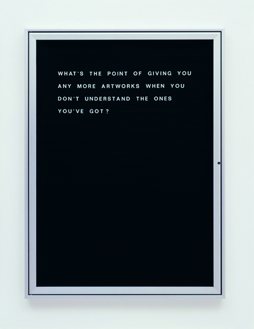 , 'What's the point of giving…?,' 2006, Vistamare/Vistamarestudio