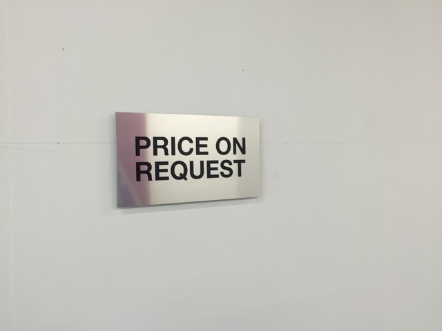 , 'Price on Request,' 2017, Galerie Joy de Rouvre
