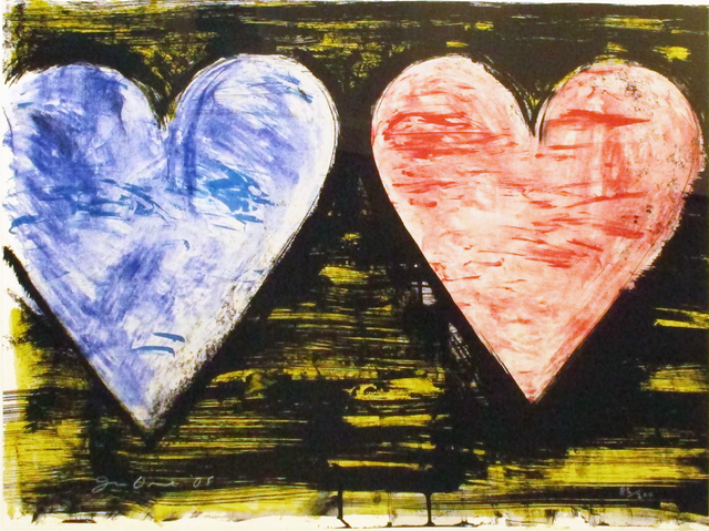 Jim Dine, 'Two Hearts at Sunset', 2005, Hamilton-Selway: Blue-Chip Editions