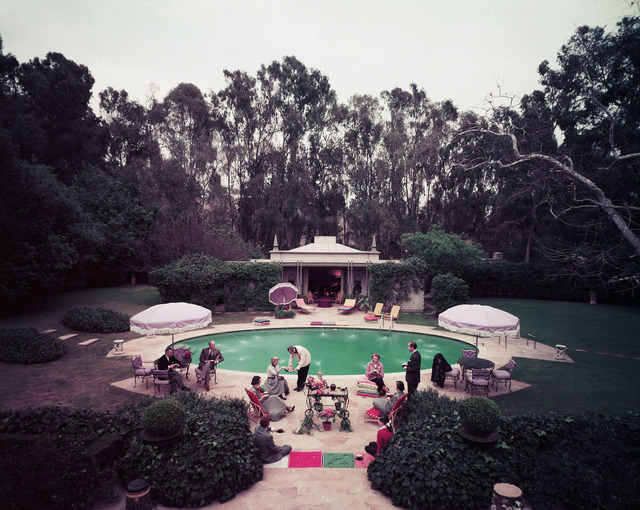 , 'Scone Madame?: Guests gather around pool at home of interior decorator James Pendleton,' ca. 1960, Staley-Wise Gallery