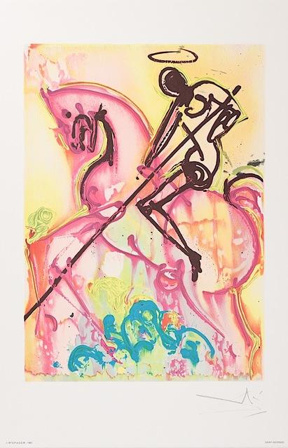 Salvador Dalí, 'Saint-Georges', 1983, Print, Lithograph on Vélin d'Arches Paper, Art Lithographies