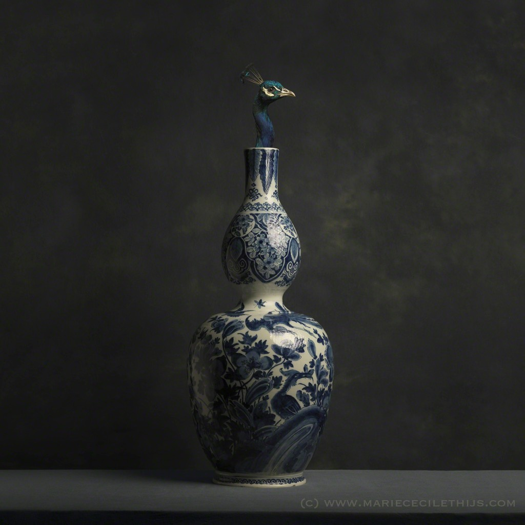 Marie Cecile Thijs | Peacock and Delft Blue Vase (2016 ...