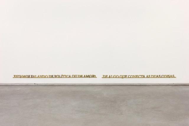 Ivan Grilo, 'Estamos falando de política ou de amor. De algo que conecta as duas coisas.', 2019, Sculpture, Bronze, Casa Triângulo