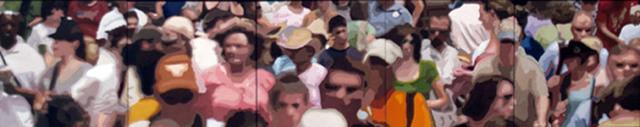 James Oliver (1972), 'Crowd (Composition #20)', George Billis Gallery
