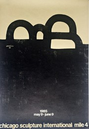 Vintage Poster for Chicago Sculpture International