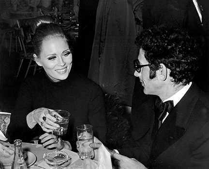 ", 'Faye Dunaway and Jerry Schatzberg, ""Coll Hand Luke"" Premiere Party, Americana Hotel, New York,' 1967, Staley-Wise Gallery"