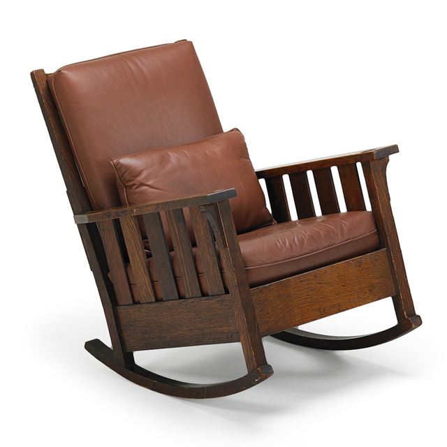 Gustav Stickley, 'Rocking Chair, Eastwood, NY', ca. 1905, Rago/Wright