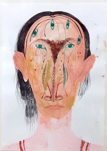 Silvia Mei, 'Ritratto con Occhi', 2014, Robert Kananaj Gallery