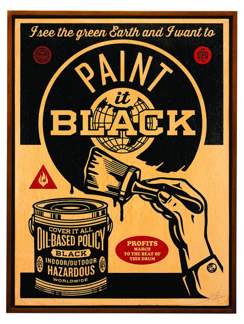 , 'Paint It Black (Brush),' 2014, Subliminal Projects