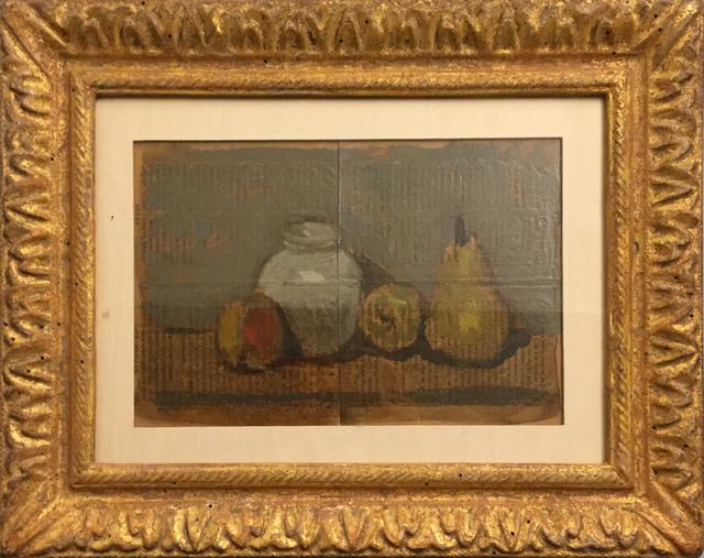Robert Kulicke, 'A Pear, Two Apples, and a Jar', ca. 1960, James Barron Art