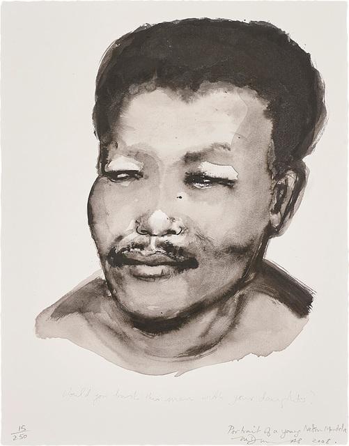 Marlene Dumas, 'Portrait of a Young Nelson Mandela', 2008, Phillips