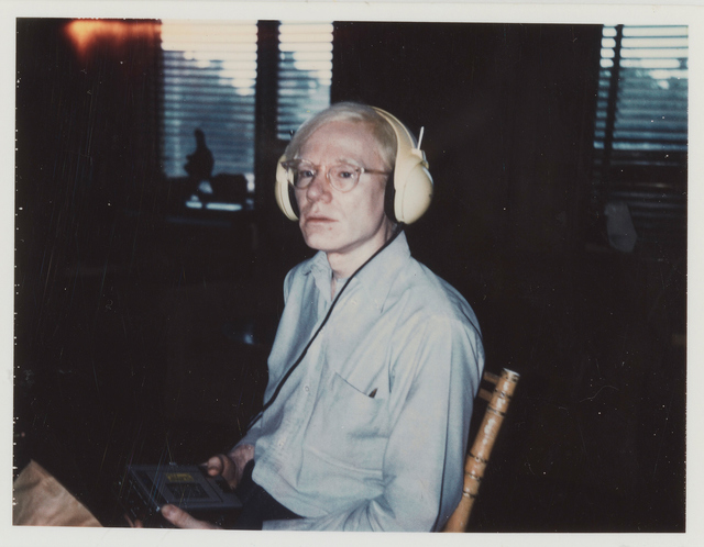 , 'Untitled (Andy Warhol Wearing Lou Reed's Headphones),' ca. 1974, Gagosian