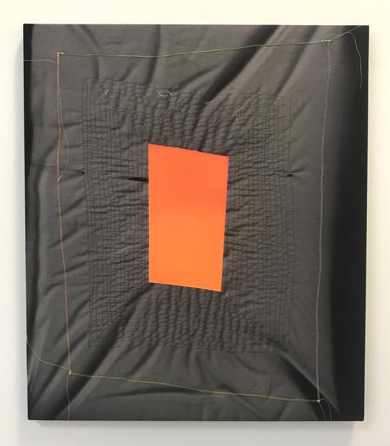 , 'Ghost Pattern (Orange on Black) ,' 2019, Halsey McKay Gallery