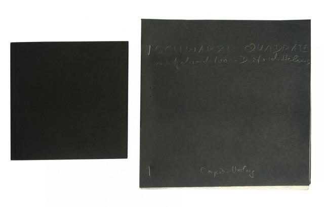 Dietrich Helms, 'Schwarze Quadrate/Black Square + edition mock-up', 1979, Alternate Projects