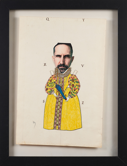 Varujan Boghosian, 'King Elizabeth', ca. 2010, Collage of cut paper and ink, Rago/Wright