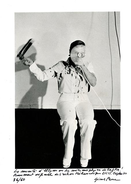 , 'La sérénité d´Ulysse ou la métamorphose de Kafka. Document original de l´Action Mélancolique 2x2x2, Naples,' 1974, Galerie Hubert Winter