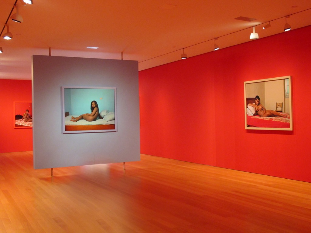 Installation images Awol Erizku: New Flower /Images of the Reclining Venus at The FLAG Art Foundation.