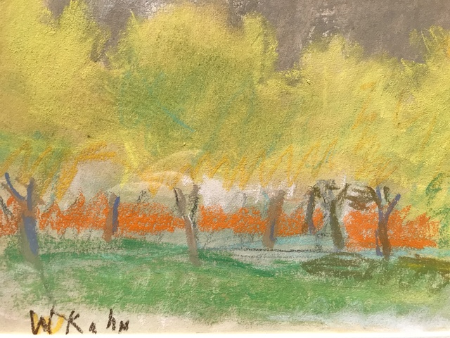 , 'Untitled Yellow Trees,' 1990, Walter Wickiser Gallery